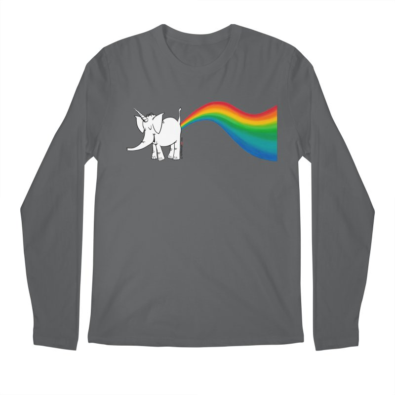 Unicorn Rainbow Lovin' Cy Men's Longsleeve T-Shirt by Cy The Elephart's phArtist Shop