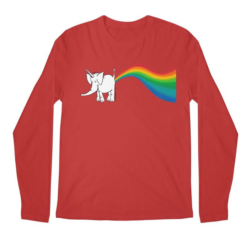 Unicorn Rainbow Lovin' Cy Men's Regular Longsleeve T-Shirt by Cy The Elephart's phArtist Shop