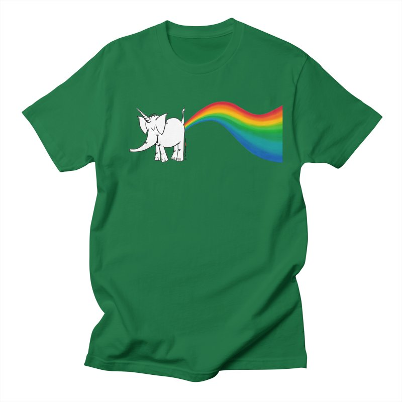 Unicorn Rainbow Lovin' Cy Women's Regular Unisex T-Shirt by Cy The Elephart's phArtist Shop