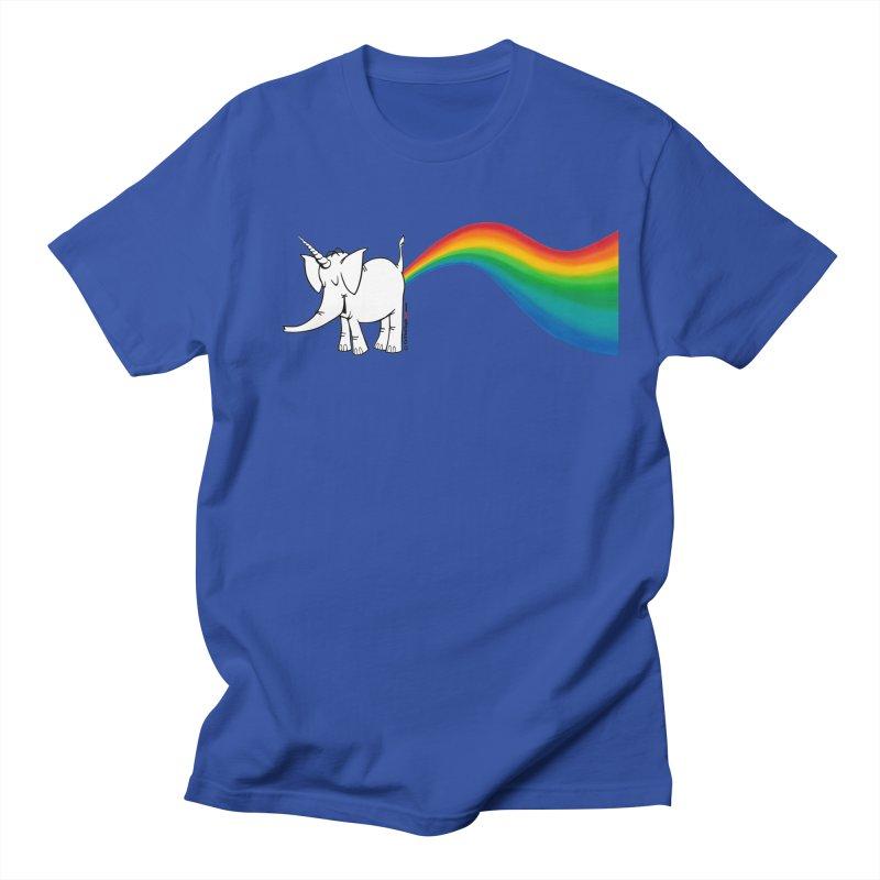 Unicorn Rainbow Lovin' Cy Women's Regular Unisex T-Shirt by Cy The Elephart's phArtist Shop