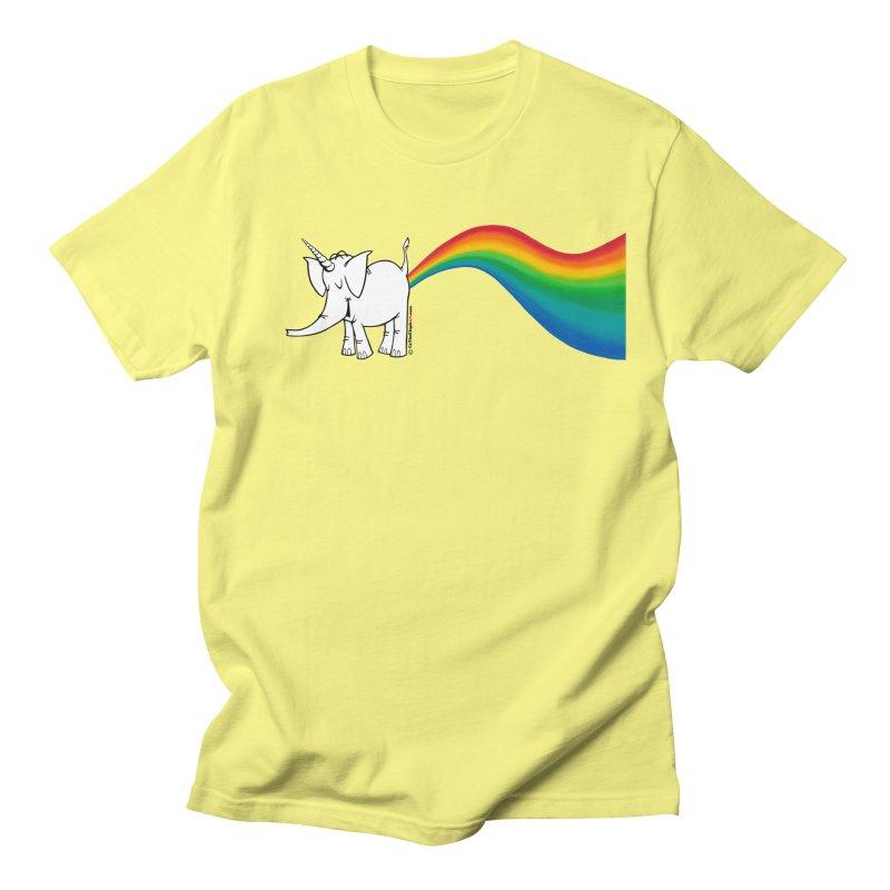 Unicorn Rainbow Lovin' Cy Men's Regular T-Shirt by Cy The Elephart's phArtist Shop