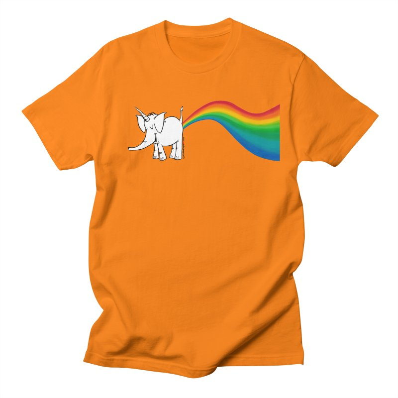 Unicorn Rainbow Lovin' Cy Men's Regular T-Shirt by Cy The Elephart's phArtist Shop