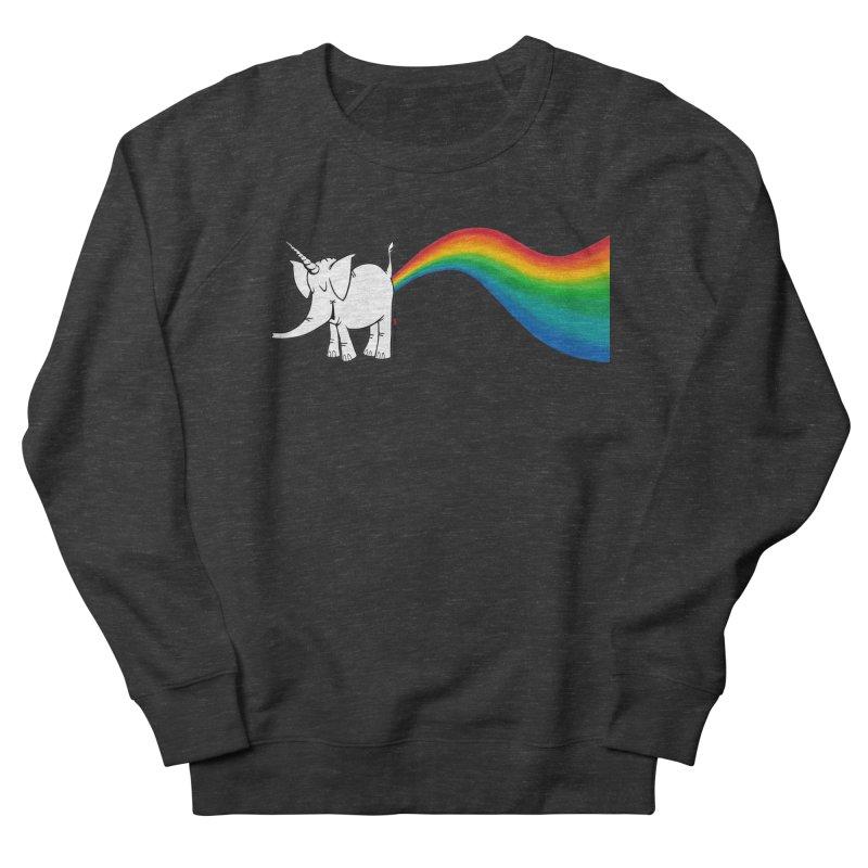 Unicorn Rainbow Lovin' Cy Women's French Terry Sweatshirt by Cy The Elephart's phArtist Shop