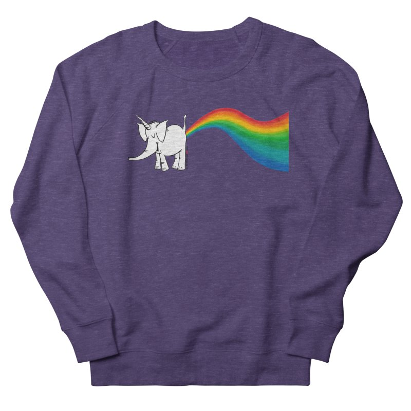 Unicorn Rainbow Lovin' Cy Men's French Terry Sweatshirt by Cy The Elephart's phArtist Shop
