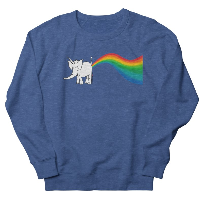 Unicorn Rainbow Lovin' Cy Men's Sweatshirt by Cy The Elephart's phArtist Shop