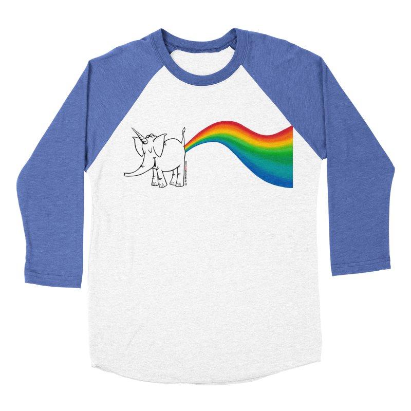 Unicorn Rainbow Lovin' Cy Women's Baseball Triblend Longsleeve T-Shirt by Cy The Elephart's phArtist Shop