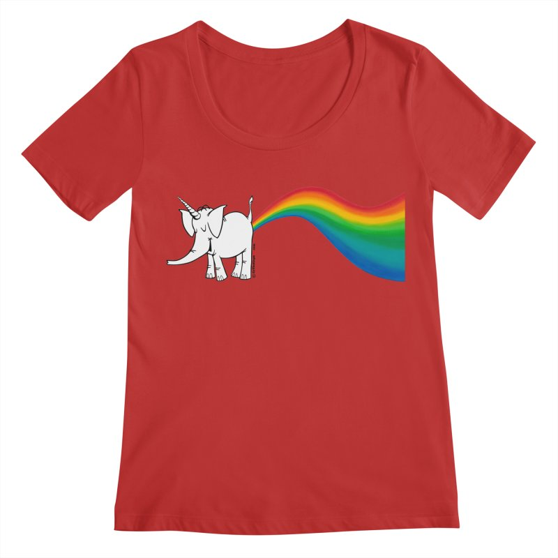 Unicorn Rainbow Lovin' Cy Women's Regular Scoop Neck by Cy The Elephart's phArtist Shop
