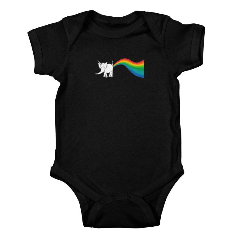 Unicorn Rainbow Lovin' Cy Kids Baby Bodysuit by Cy The Elephart's phArtist Shop