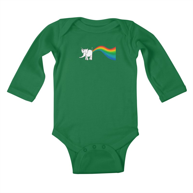 Unicorn Rainbow Lovin' Cy Kids Baby Longsleeve Bodysuit by Cy The Elephart's phArtist Shop