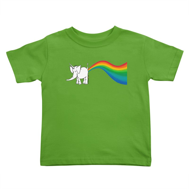 Unicorn Rainbow Lovin' Cy Kids Toddler T-Shirt by Cy The Elephart's phArtist Shop