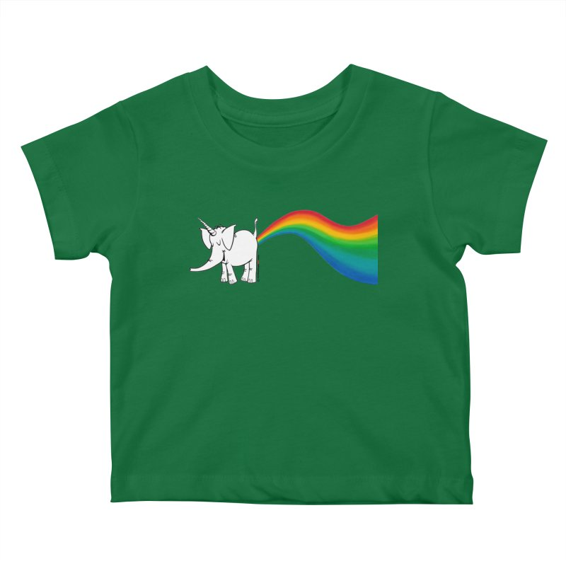 Unicorn Rainbow Lovin' Cy Kids Baby T-Shirt by Cy The Elephart's phArtist Shop