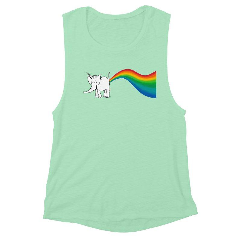 Unicorn Rainbow Lovin' Cy Women's Muscle Tank by Cy The Elephart's phArtist Shop