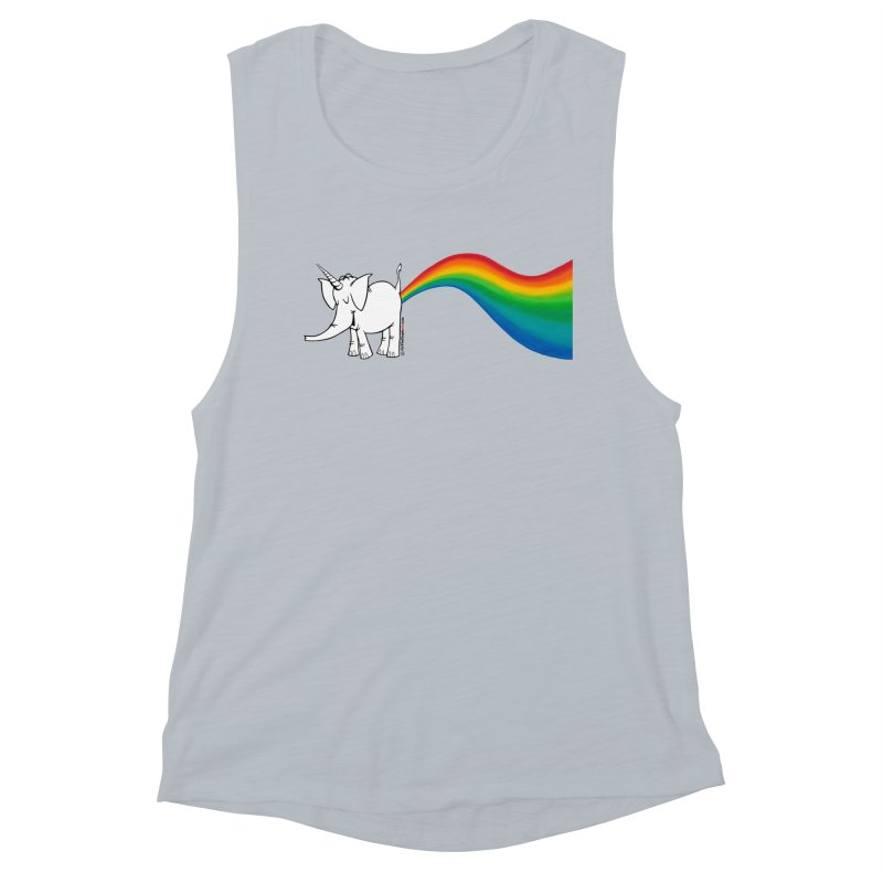Unicorn Rainbow Lovin' Cy Women's Tank by Cy The Elephart's phArtist Shop
