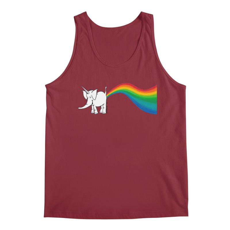 Unicorn Rainbow Lovin' Cy Men's Tank by Cy The Elephart's phArtist Shop