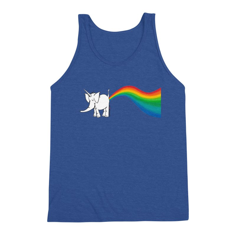Unicorn Rainbow Lovin' Cy Men's Tank by Cy The Elephart's phArtist Shop