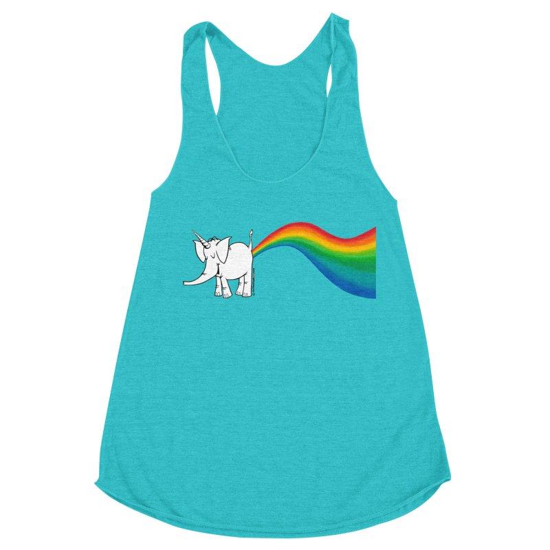Unicorn Rainbow Lovin' Cy Women's Tank by Cy The Elephart's phArtist Shop