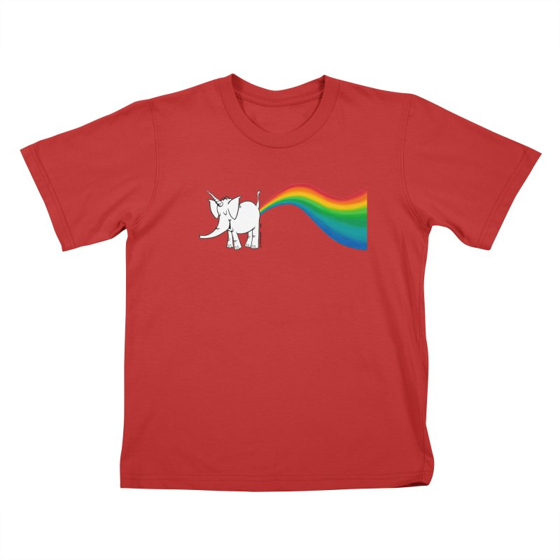 Unicorn Rainbow Lovin' Cy Kids T-Shirt by Cy The Elephart's phArtist Shop