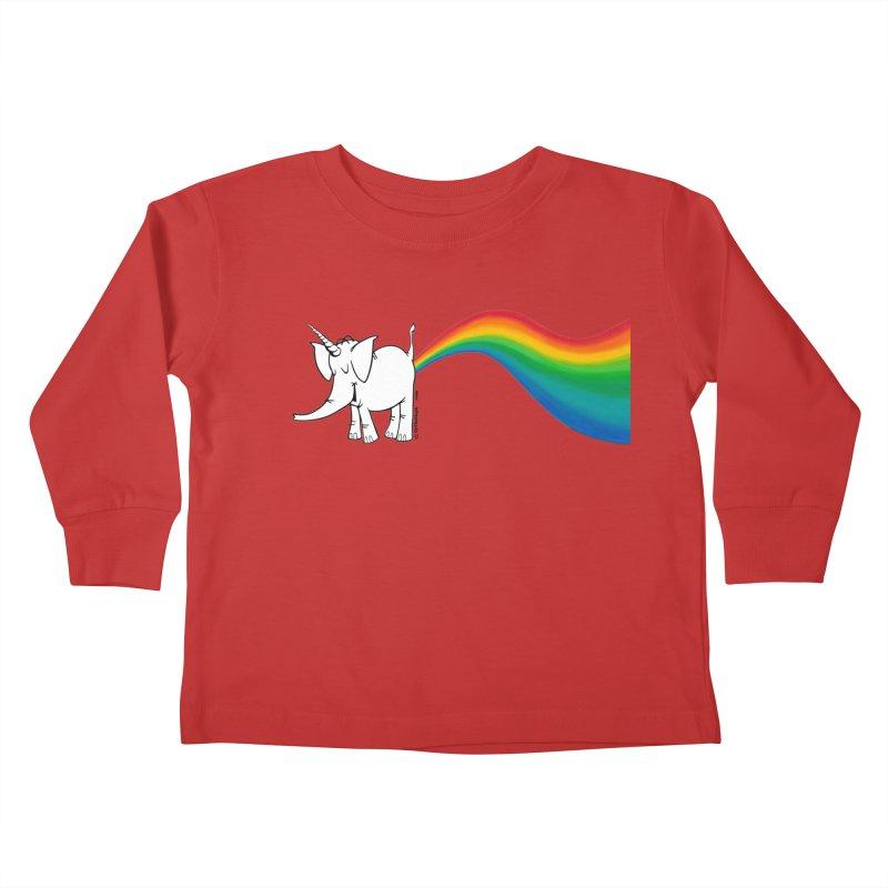 Unicorn Rainbow Lovin' Cy Kids Toddler Longsleeve T-Shirt by Cy The Elephart's phArtist Shop