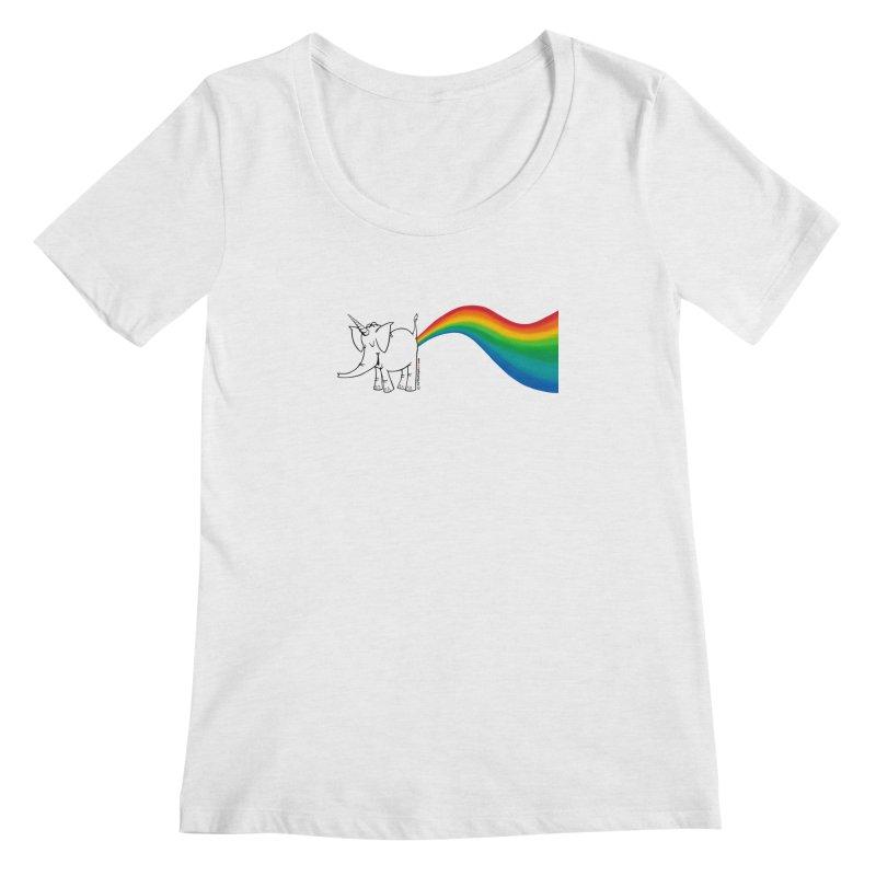 Unicorn Rainbow Lovin' Cy Women's Scoop Neck by Cy The Elephart's phArtist Shop