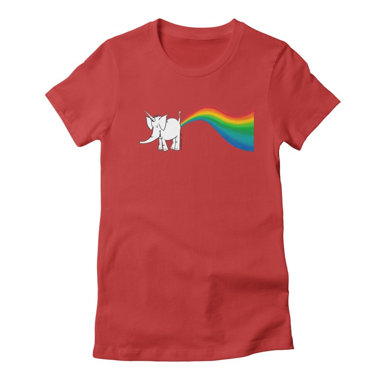 Unicorn Rainbow Lovin' Cy Women's T-Shirt by Cy The Elephart's phArtist Shop