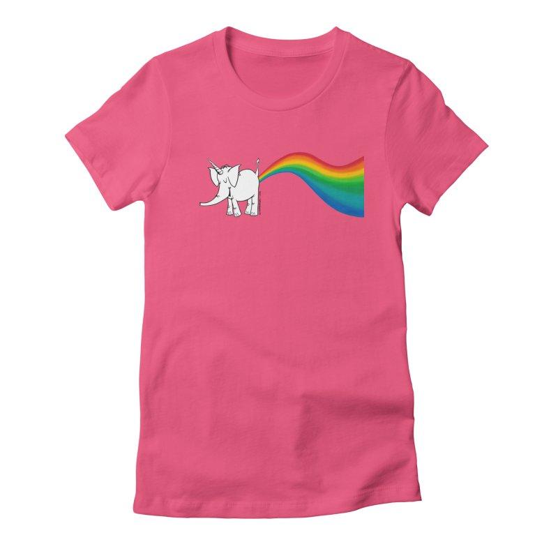 Unicorn Rainbow Lovin' Cy Women's T-Shirt by Cy The Elephart's phArtist Shop