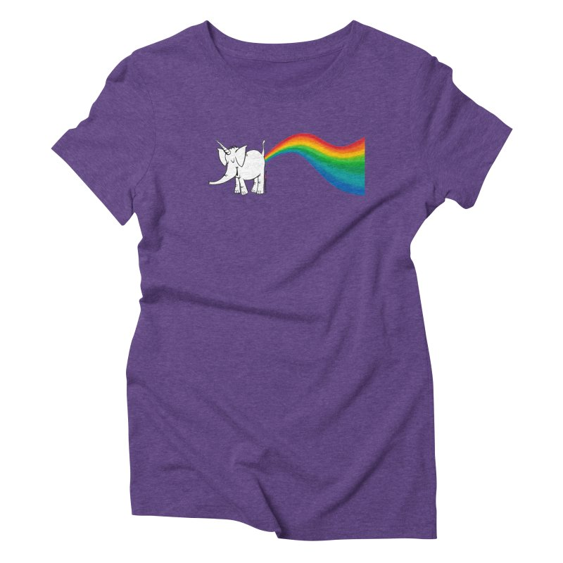 Unicorn Rainbow Lovin' Cy Women's Triblend T-Shirt by Cy The Elephart's phArtist Shop
