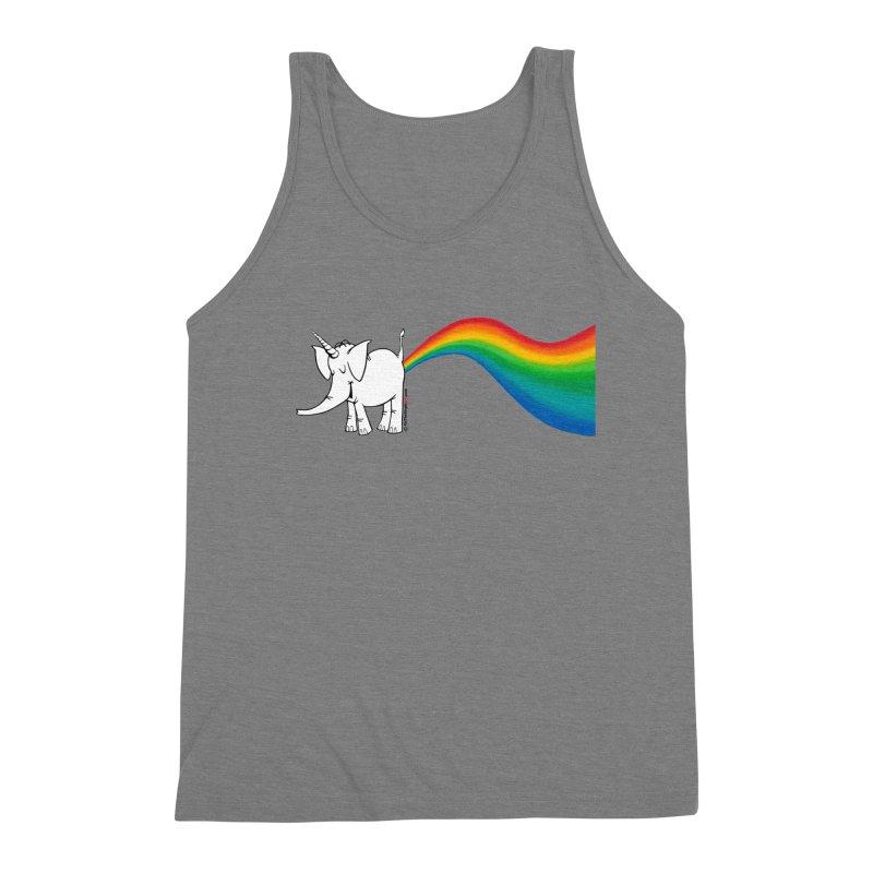 Unicorn Rainbow Lovin' Cy Men's Triblend Tank by Cy The Elephart's phArtist Shop