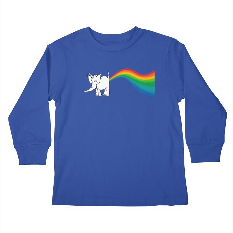 Unicorn Rainbow Lovin' Cy Kids Longsleeve T-Shirt by Cy The Elephart's phArtist Shop