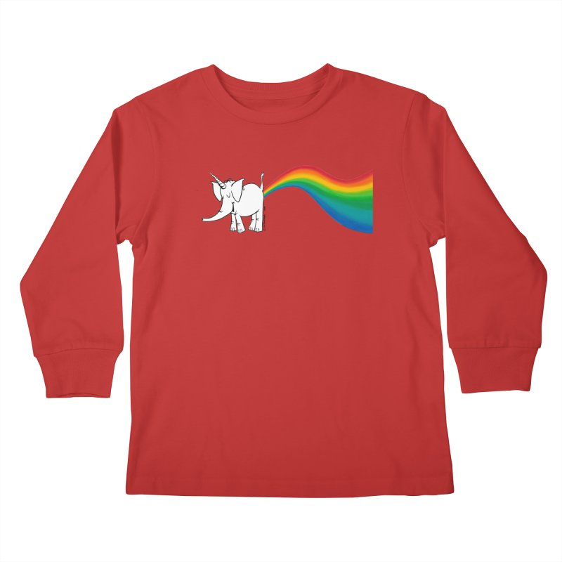 Unicorn Rainbow Lovin' Cy Kids Longsleeve T-Shirt by Cy The Elephart's phArtist Shop