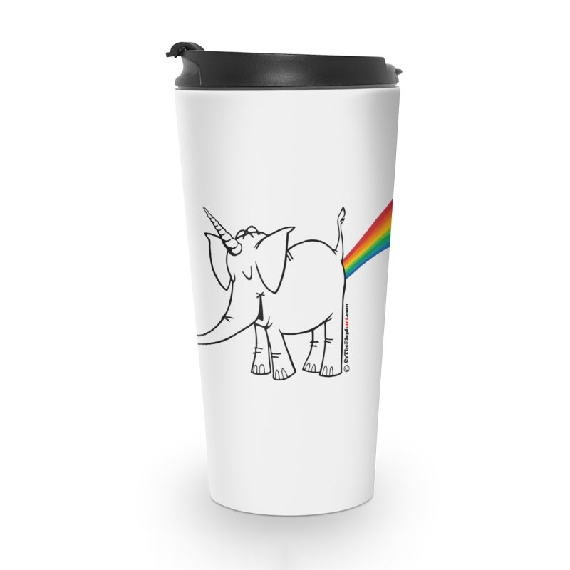 Unicorn Rainbow Lovin' Cy Accessories Travel Mug by Cy The Elephart's phArtist Shop