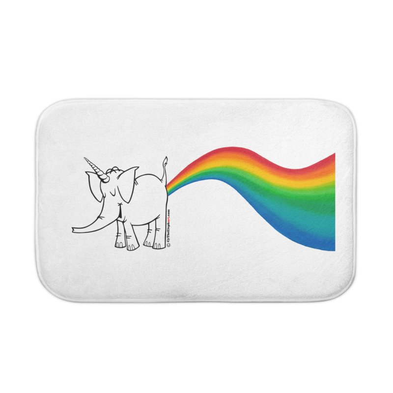 Unicorn Rainbow Lovin' Cy Home Bath Mat by Cy The Elephart's phArtist Shop
