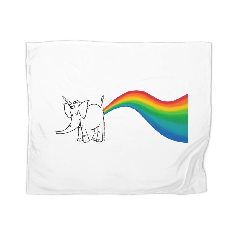 Unicorn Rainbow Lovin' Cy Home Blanket by Cy The Elephart's phArtist Shop