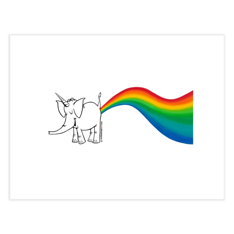 Unicorn Rainbow Lovin' Cy Home Fine Art Print by Cy The Elephart's phArtist Shop