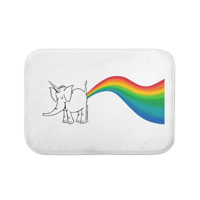 Unicorn Rainbow Lovin' Cy Home Bath Mat by Cy The Elephart's phArtist Shop