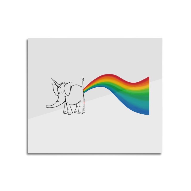 Unicorn Rainbow Lovin' Cy Home Mounted Acrylic Print by Cy The Elephart's phArtist Shop