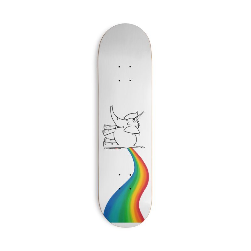 Unicorn Rainbow Lovin' Cy Accessories Skateboard by Cy The Elephart's phArtist Shop