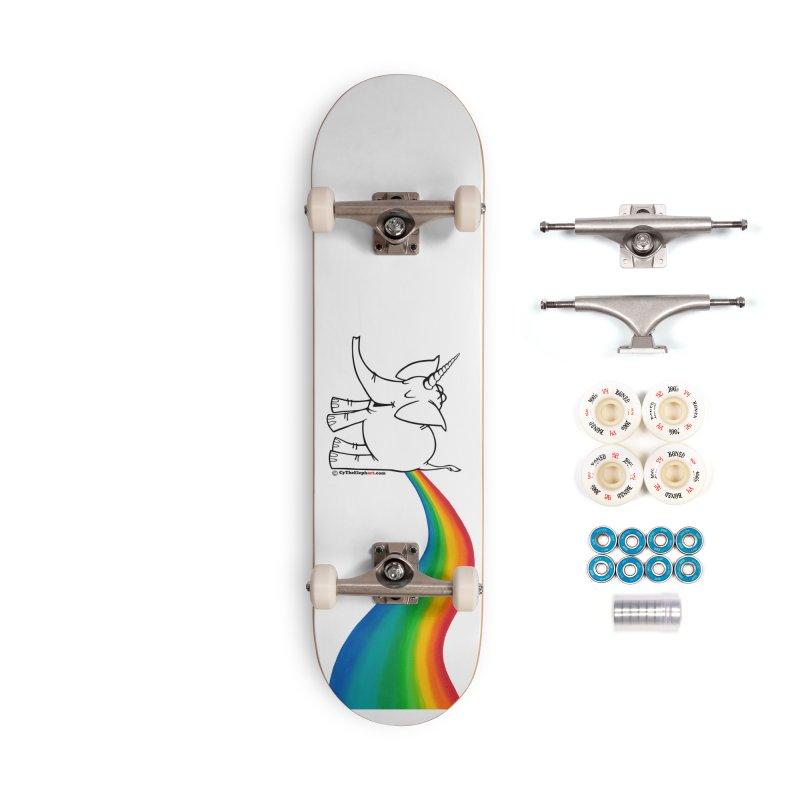Unicorn Rainbow Lovin' Cy Accessories Skateboard by Cy The Elephart's phArtist Shop