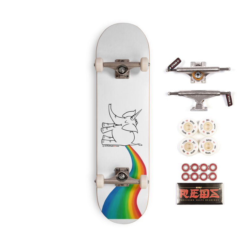 Unicorn Rainbow Lovin' Cy Accessories Complete - Pro Skateboard by Cy The Elephart's phArtist Shop