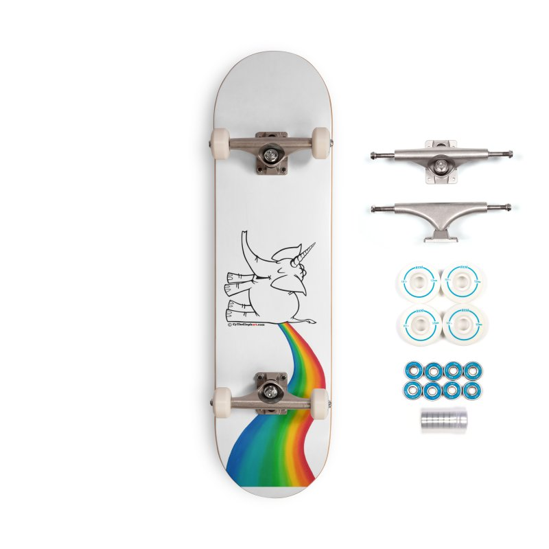 Unicorn Rainbow Lovin' Cy Accessories Complete - Basic Skateboard by Cy The Elephart's phArtist Shop
