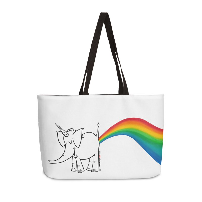 Unicorn Rainbow Lovin' Cy Accessories Weekender Bag Bag by Cy The Elephart's phArtist Shop