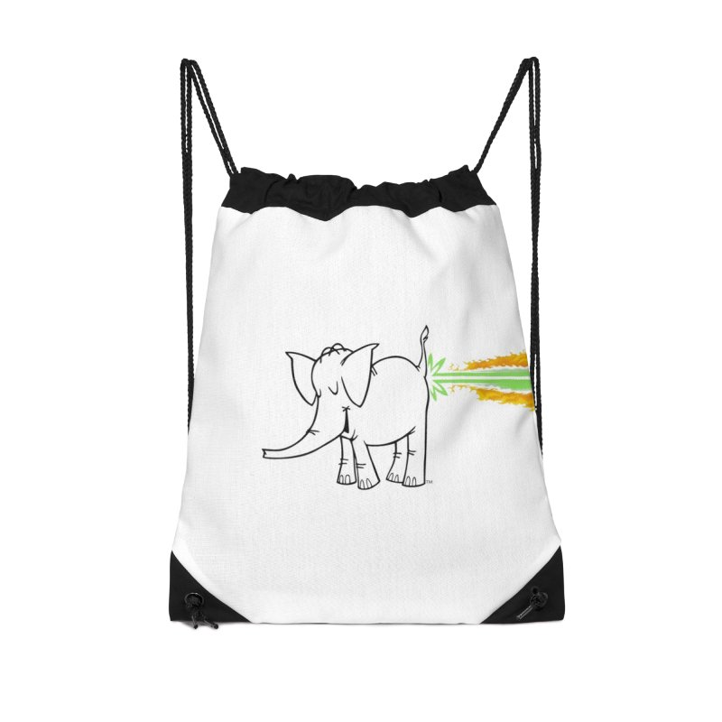 Laser Cy Accessories Drawstring Bag Bag by Cy The Elephart's phArtist Shop