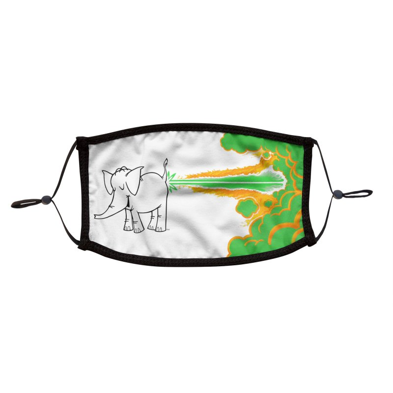 Laser Cy Accessories Face Mask by Cy The Elephart's phArtist Shop