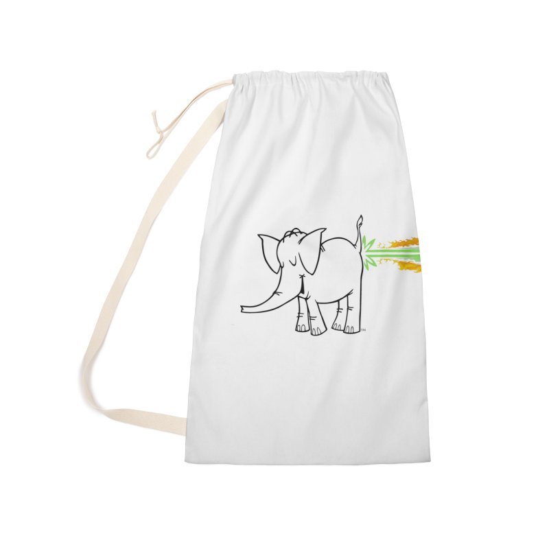 Laser Cy Accessories Laundry Bag Bag by Cy The Elephart's phArtist Shop