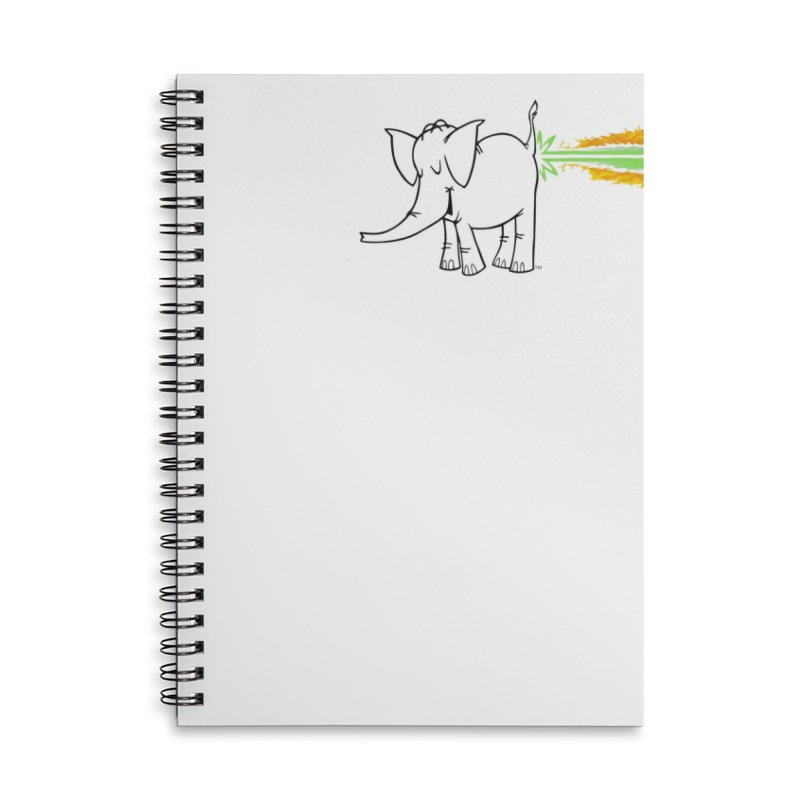 Laser Cy Accessories Lined Spiral Notebook by Cy The Elephart's phArtist Shop