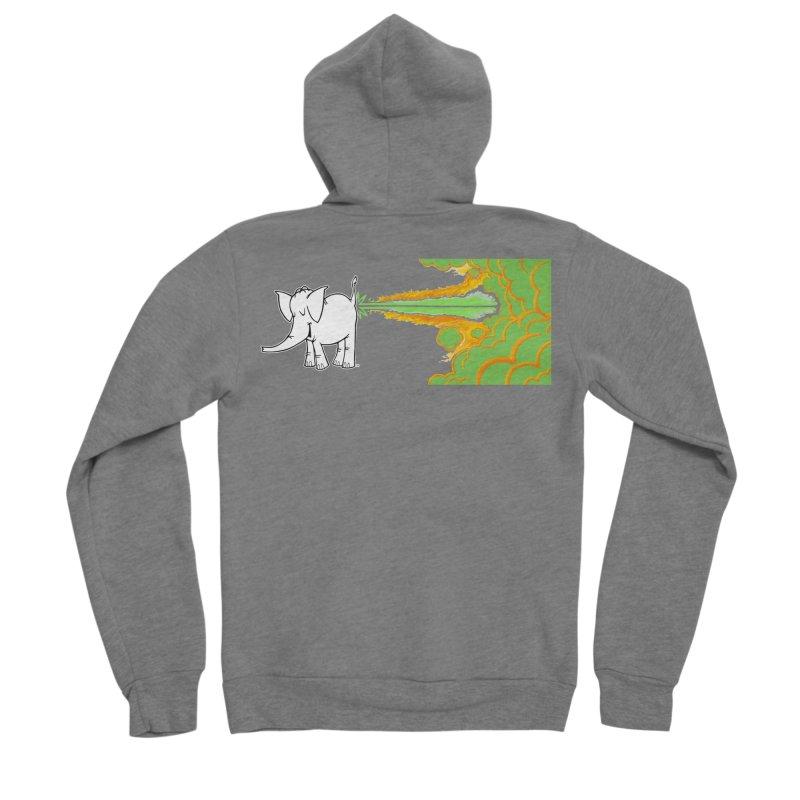 Laser Cy Men's Sponge Fleece Zip-Up Hoody by Cy The Elephart's phArtist Shop