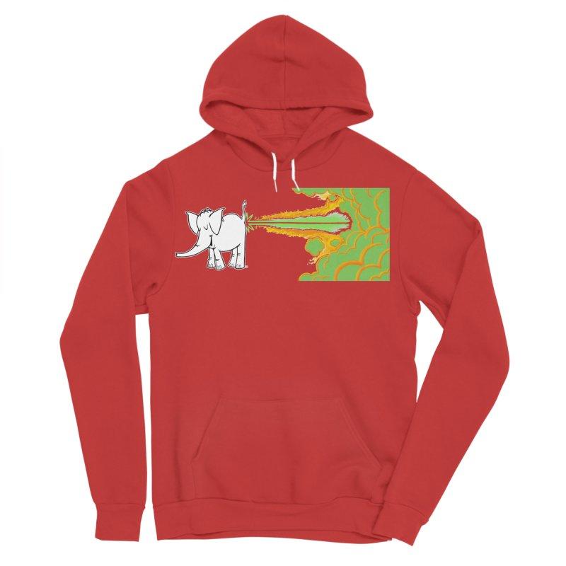 Laser Cy Men's Sponge Fleece Pullover Hoody by Cy The Elephart's phArtist Shop