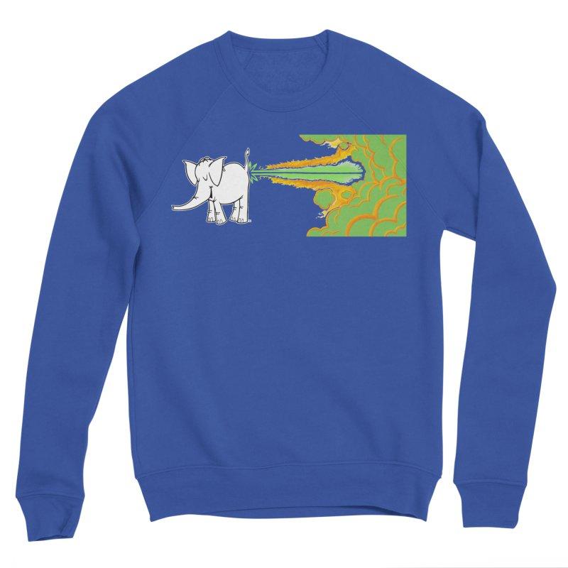 Laser Cy Men's Sweatshirt by Cy The Elephart's phArtist Shop