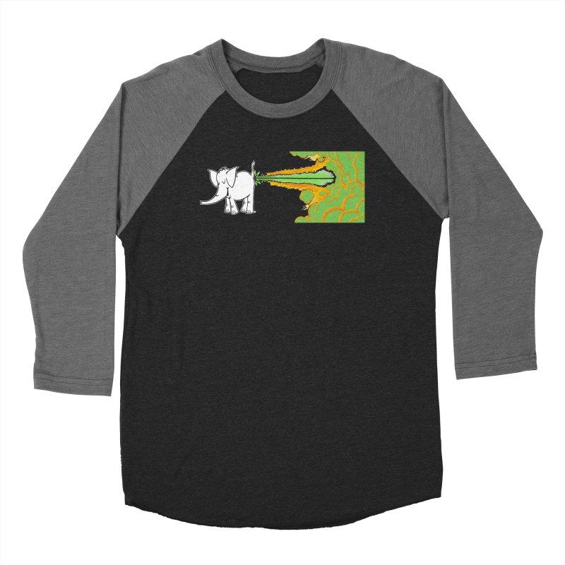 Laser Cy Men's Baseball Triblend Longsleeve T-Shirt by Cy The Elephart's phArtist Shop