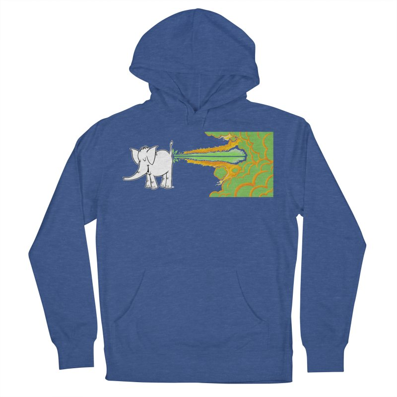Laser Cy Men's French Terry Pullover Hoody by Cy The Elephart's phArtist Shop