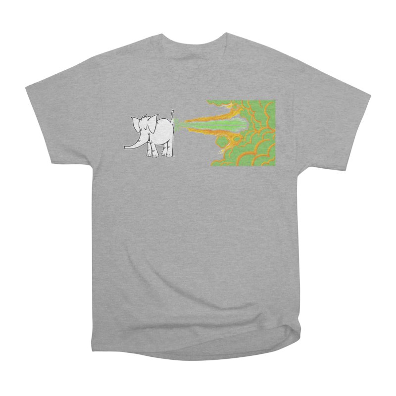 Laser Cy Men's Heavyweight T-Shirt by Cy The Elephart's phArtist Shop